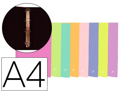 C//4 carpeta fº 4 anillas 40mm carton forrado colores surtidos
