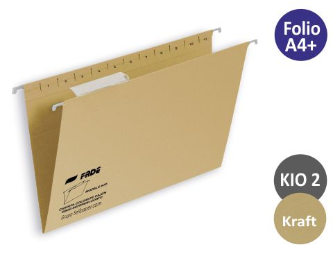 Carpeta colgante Hamelin folio visor superior kraft eco 400064819