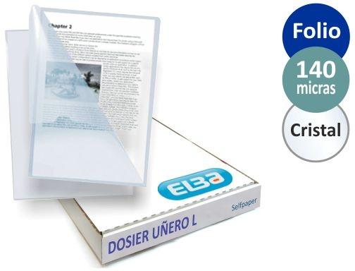 ESSELTE 40011003 caja 100 ud. DIN A4 color transparente Dossiers u/ñero RE:CYCLE PP antideslizante 130 micras