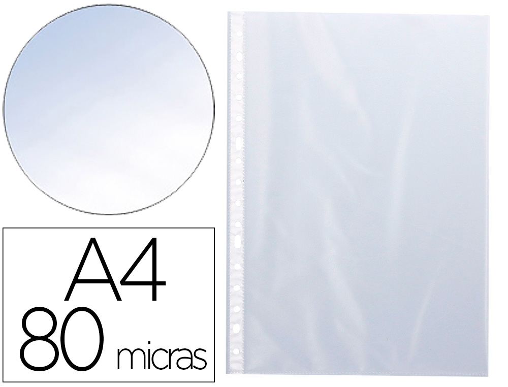 Funda multitaladro Q-connect folio 80 mc cristal caja de 1400 KF15539