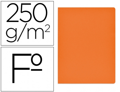Subcarpeta cartulina Gio simple intenso folio naranja 250g m2 400040653
