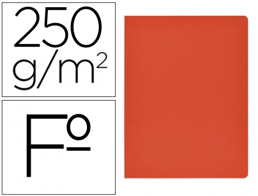 Subcarpeta cartulina Gio simple intenso folio rojo 250g m2 400040654