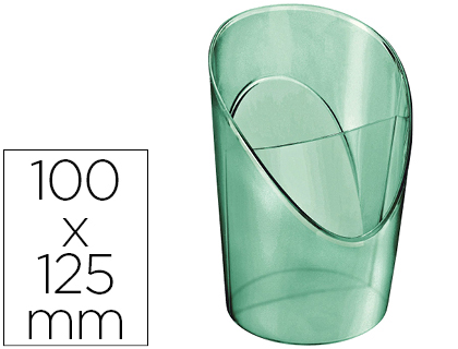 Cubilete portalapices Esselte plastico colour ice color verde 100x125x90 mm 626270