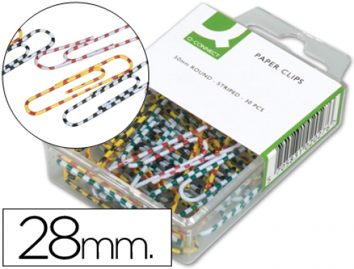 Pack de 50 clips niquelados CSP 2-D