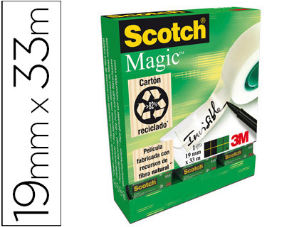 Cinta adhesiva Scotch magic invisible 19x33m RT000968870