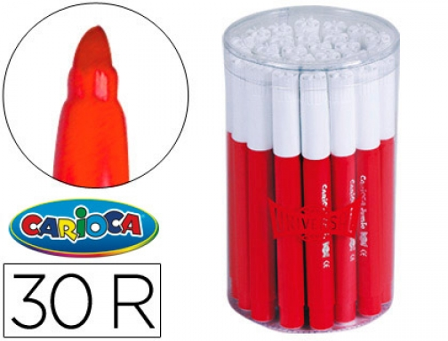 rotulador carioca jumbo bote 30 rojo