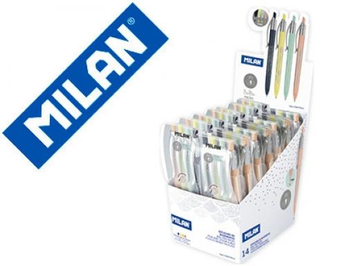Boligrafo Milan P1 Silver Retractil 1 Mm Estuche De 4 176577914 Surtidos