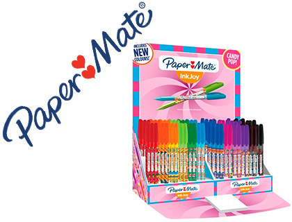 Boligrafo paper mate inkjoy 100 candy pop expositor de 150 Papermate 2036110 , surtidos