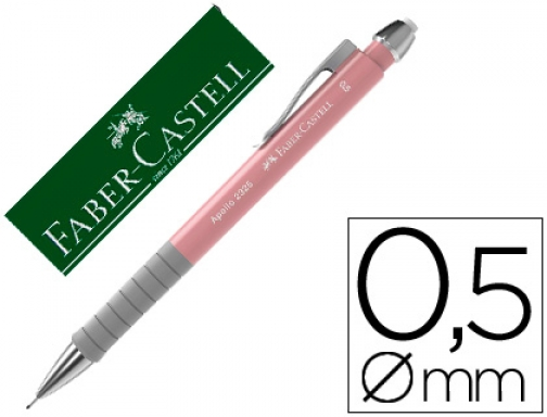 Portaminas Faber castell 0.5 mm apollo retractil color rosa claro 232501