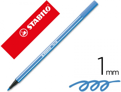 Rotulador Stabilo acuarelable pen 68 azul oscuro 1 mm 68 41
