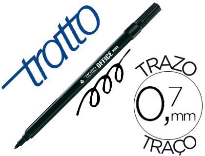 Rotulador tratto office fine punta de fibra trazo 0,7 mm Giotto 730503 , negro