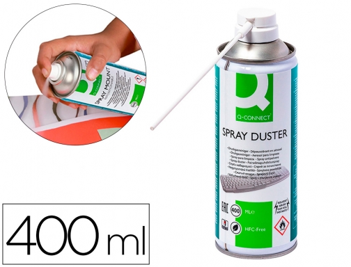Aire a presion Q-connect para limpieza general 400 ml KF04499
