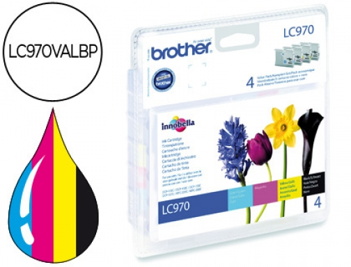 Ink-jet Brother lc-970 pack negro cian magenta amarillo LC970VALBP