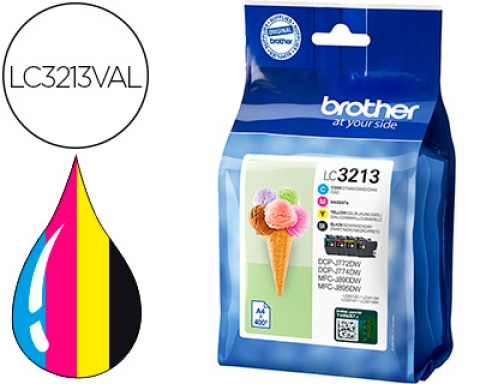 Ink-jet Brother lc3213 DCP-j572 DCP-j772 MFC-j890pack 4 colores negro amarillo LC3213VAL