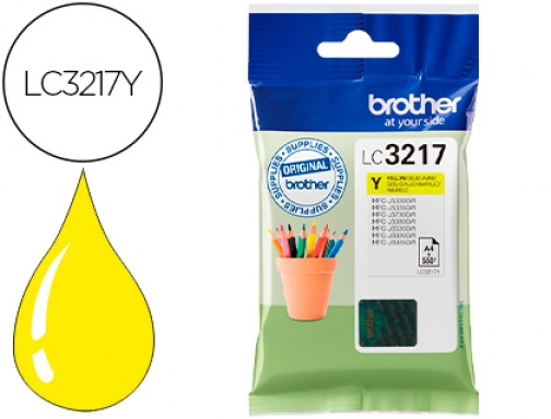 Ink-jet Brother LC3217Y MFCj6530 MFC-j6935 amarillo 550 paginas
