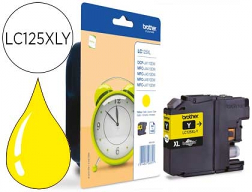 Ink-jet Brother MFC-j4410dw 4510 dw amarillo alta capacidad 1200 pag LC125XLYBP