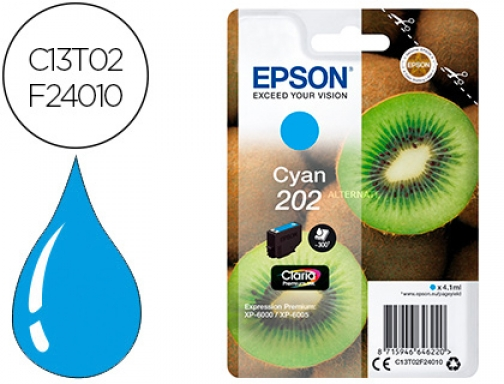 Ink-jet Epson 202 xp-6000 xp-6005 xp-6100 xp-6105 cian 300 pag C13T02F24010
