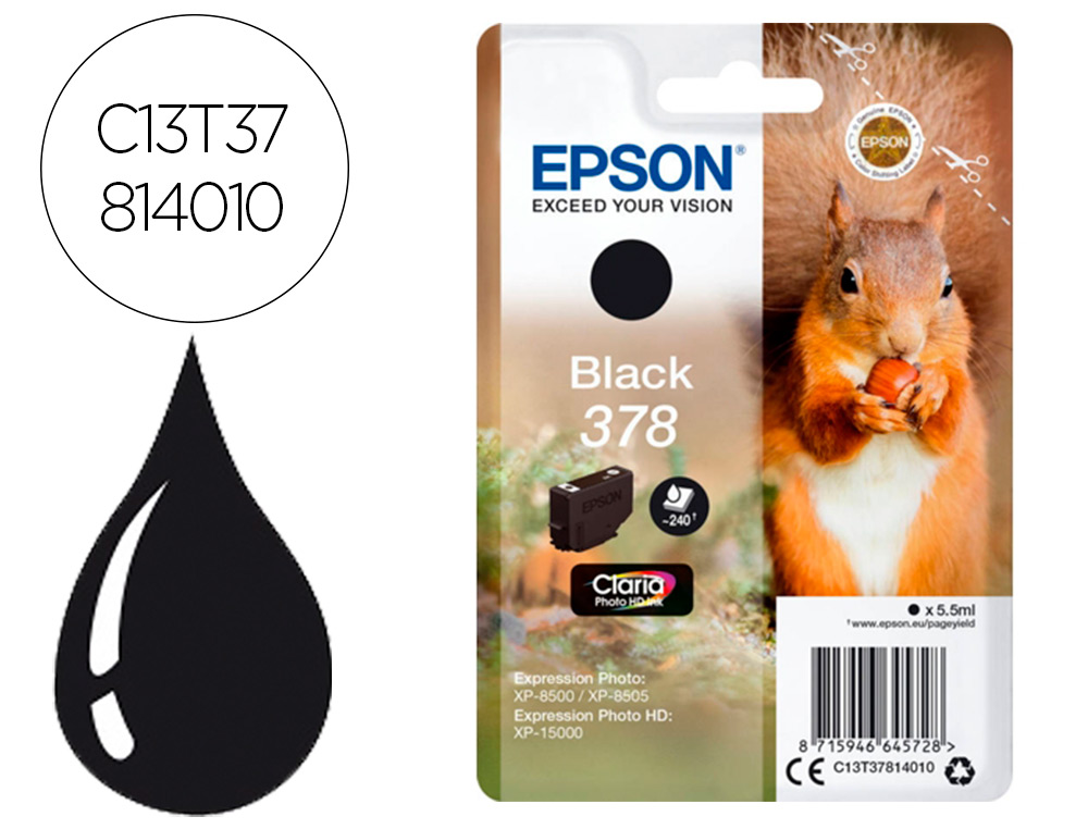 Ink-jet Epson 378 expression home xp-8605 8606 xp-15000 xp-8500 8505 C13T37814010