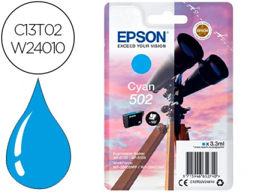 Ink-jet Epson 502 xl expression home xp 5100 5105 workforce C13T02W24010