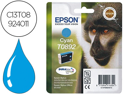 Ink-jet Epson t0892 stylus s20 21 sx105 cyan -170 pag- C13T08924011