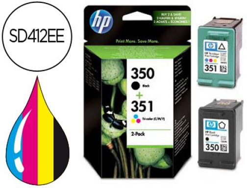 Ink-jet Hp n.350 n.351 dual pack dj 4260 4360 j5730 SD412EE