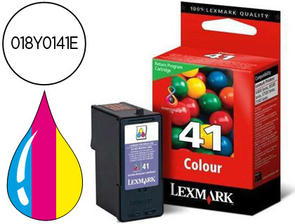 Ink-jet Lexmark z1520, x4850 6570 9570 tricolor retornable n.41 -210pag- 018Y0141E