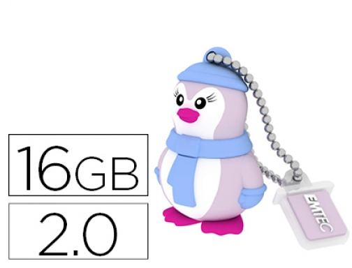 Memoria usb Emtec flash 16 gb 2.0 pinguino E144270