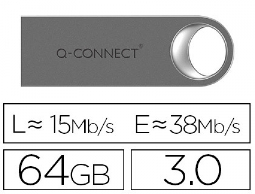 Memoria usb Q-connect flash premium 64 gb 3.0 KF11503