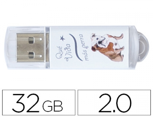 Memoria usb Techonetech flash drive 32 gb 2.0 que vida TEC4009-32