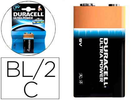b6c041ee8 Pila Duracell alcalina ultra power 9v blister de 1 unidad 940278 ...