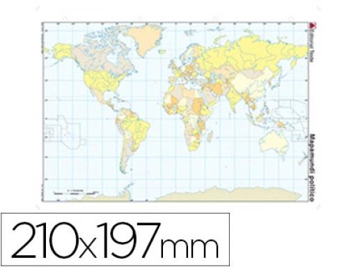 Mapa Mudo Fisico Europa Para Imprimir A4.Mapa Mudo Color Din A4 Planisferio Politico Teide 24590