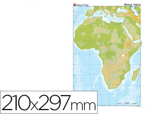 Mapa Mudo Color Din A4 Africa Fisico Teide 24592 Hipermaterial