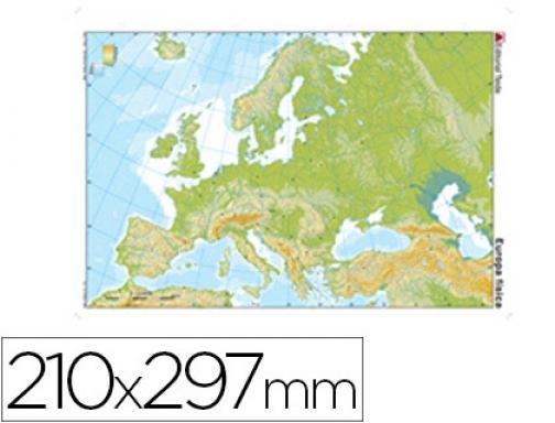 Mapa Mudo Fisico Europa Para Imprimir A4.Mapa Mudo Color Din A4 Europa Fisico Teide 24597