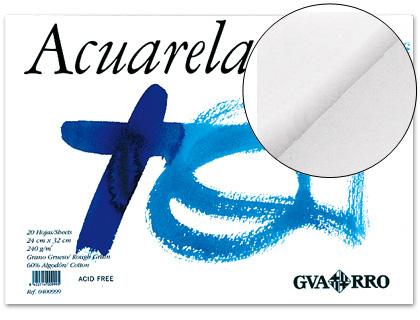 20 Hojas Cuaderno Encolado Acuarela CANSON Guarro Din-A3 240 gr