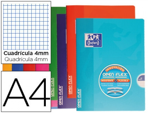 Libreta escolar Oxford tapa flexible optik paper openflex 48 hojas 400026393