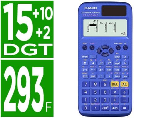 818fb96db8fc Calculadora Casio FX-85SPX II CLASSWIZ cientifica 293 funciones 9 memorias