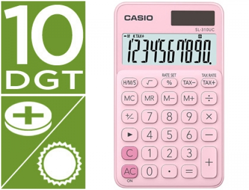 Calculadora Casio SL-310UC-PK bolsillo 10 digitos tax + - tecla