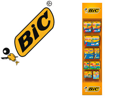 Expositor Bic suelo floorstand coloring 142 uds + regalo 2 972169