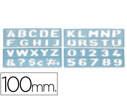 Plantilla Rotulacion 1800 Letras Y Numeros De 100 Mm Csp