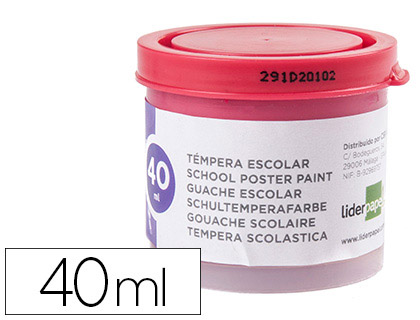 Tempera Liderpapel escolar 40 ml magenta 62932