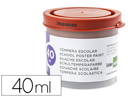 Tempera Liderpapel escolar 40 ml marron 62933