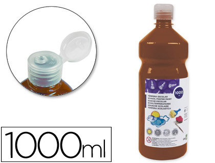 Tempera liquida Liderpapel escolar 1000 ml marron 59229