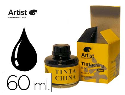 Tinta china Artist negra frasco de 60 ml A21131