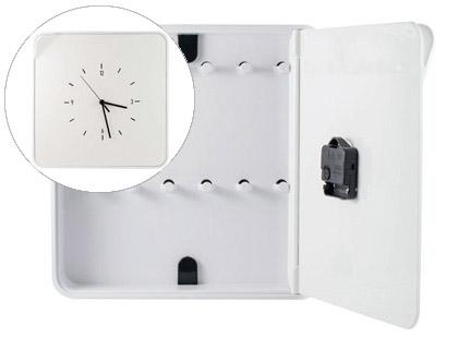 Reloj Plastico 13 Con Paperflow 12 Armario Portallaves Llaves 320x60x320 Mtbkhc Para lKJFc1