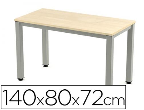 Mesa de oficina Rocada executive 2001AD01 aluminio haya 140x80 cm ...