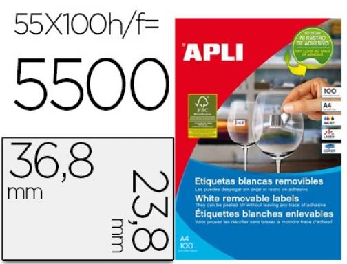 A4 Etiqueta adhesiva Apli 4704