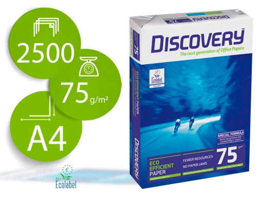 Papel fotocopiadora Discovery fast pack Din A4 75 gramos papel DIS-75-A4 , blanco