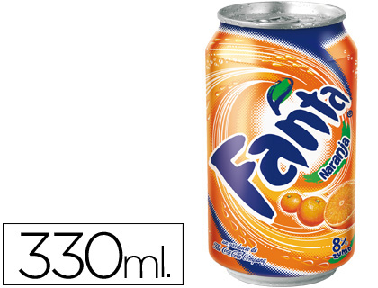 Refresco Fanta naranja lata 330ml 11549