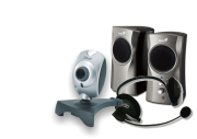 Altavoces, Microfonos, Webcam