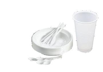 Platos y vasos de Plástico